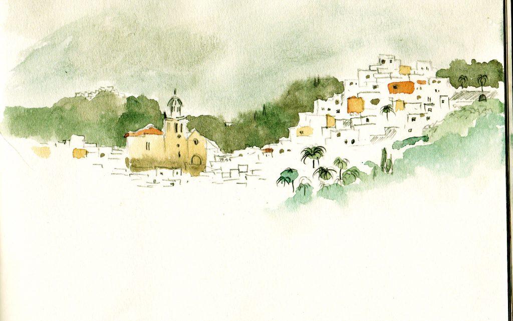 Andalusien, März 2011, Ankunft: Blick auf das graue Almunecar