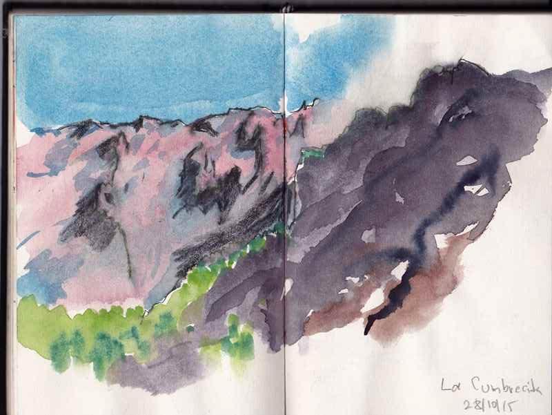 Erste Eindrücke bei der Wanderung im Bergkessel ..weißnichtmehr... La Cumbrecita
